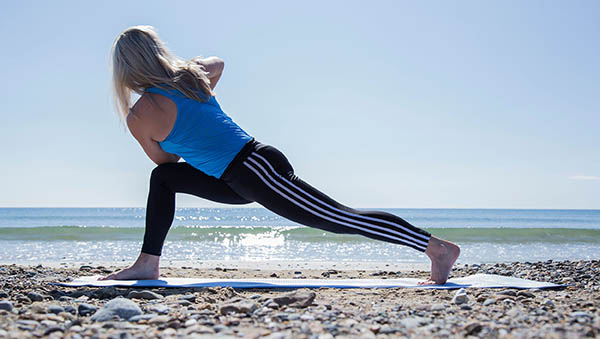 Yoga classes with Katie-Waterford Wexford Tramore Ireland beach-twist