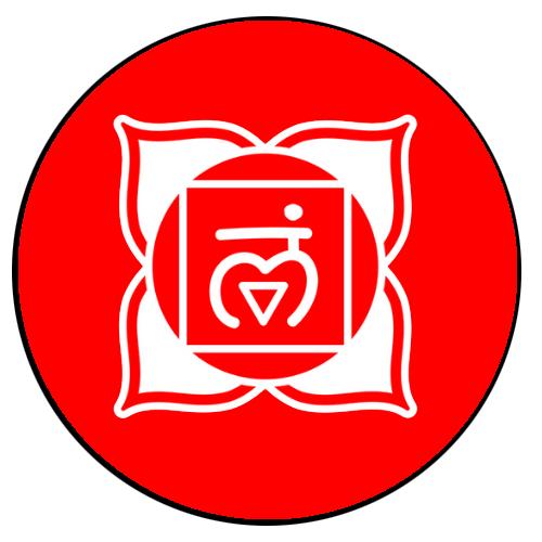 Root chakra red chakra black outline
