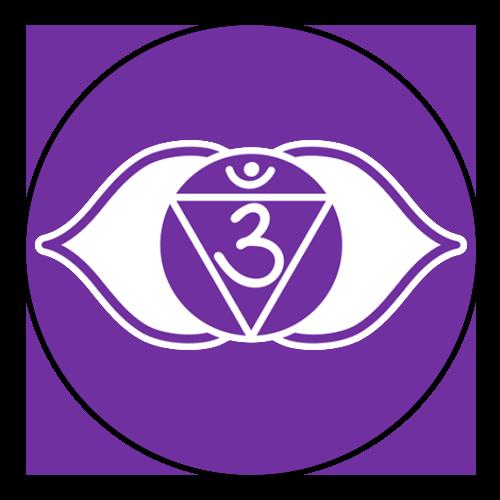Third eye chakra black outline