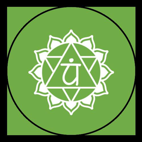 heart chakra circle icon