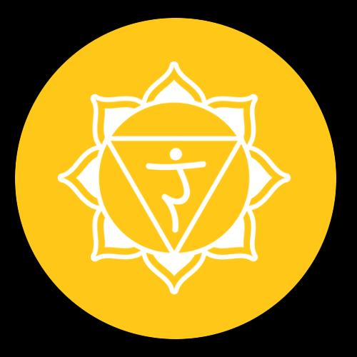 solar plexus chakra black circle