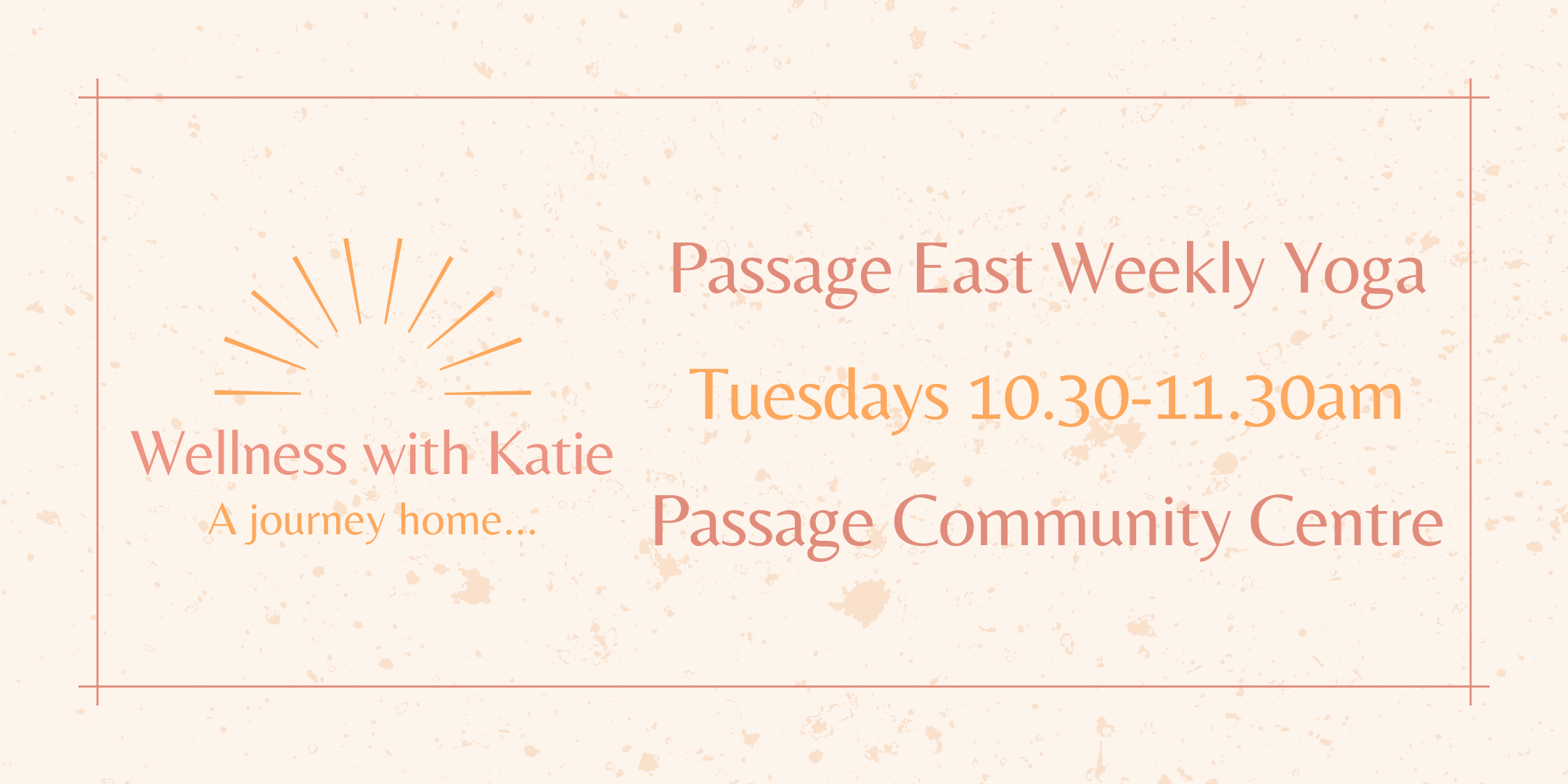 Weekly Yoga Passage East with Katie Duggan